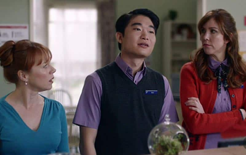 Hayley McElhinney, Belinda Bromilow, and Charles Wu in The Heart Guy (Doctor Doctor)