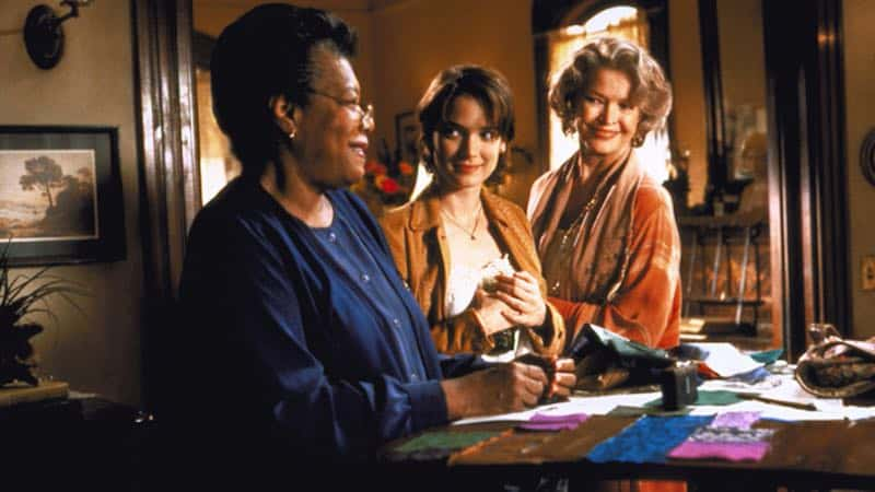 Maya Angelou, Winona Ryder, and Ellen Burstyn