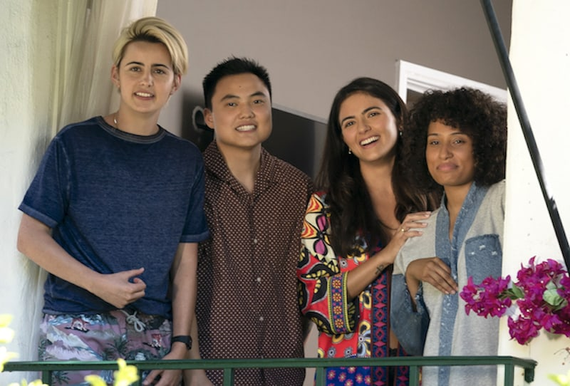 Jacqueline Toboni, Leo Sheng, Arienne Mandi and Rosanny Zayas in The L Word: Generation Q