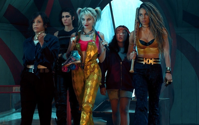 Rosie Perez, Jurnee Smollett-Bell, Mary Elizabeth Winstead, Margot Robbie, and Ella Jay Basco in Birds of Prey: And the Fantabulous Emancipation of One Harley Quinn