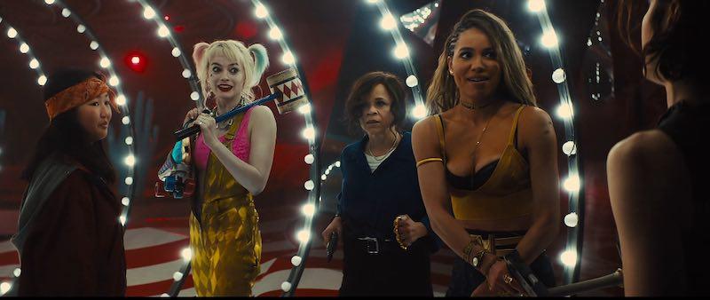 Rosie Perez, Jurnee Smollett-Bell, Mary Elizabeth Winstead, Margot Robbie, and Ella Jay Basco in Birds of Prey: And the Fantabulous Emancipation of One Harley Quinn
