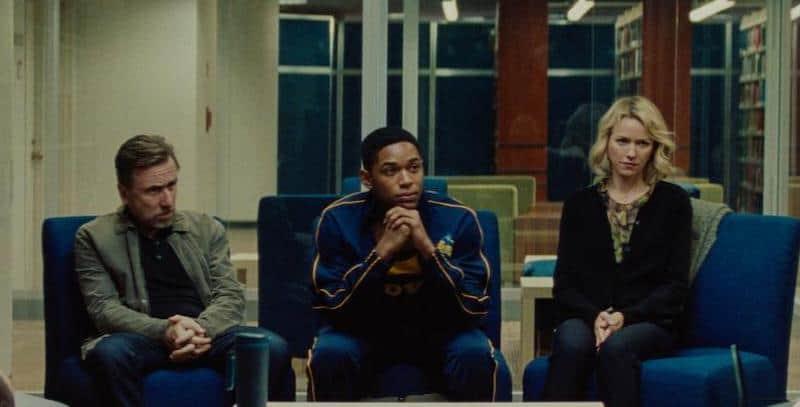 Tim Roth, Naomi Watts, and Kelvin Harrison Jr. in Luce