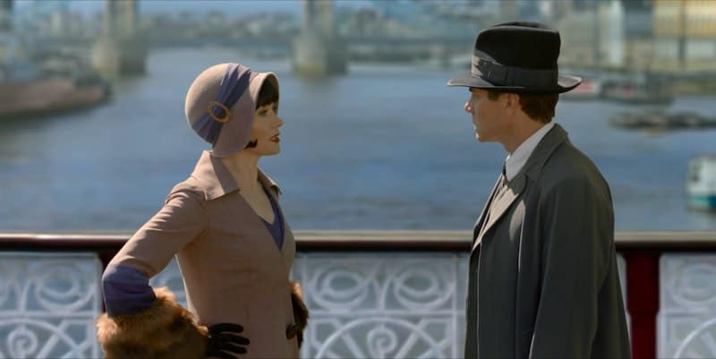 Essie Davis and Nathan Page in Miss Fisher and the Crypt of Tears