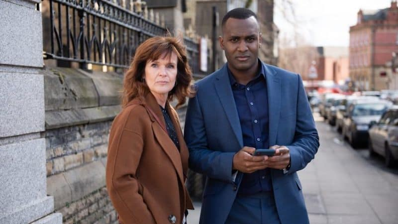 Siobhan Finneran and Kadiff Kirwan in The Stranger