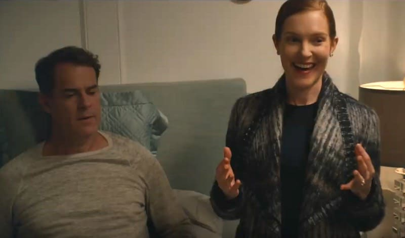 Darby Stanchfield and Josh Stamberg in Justine