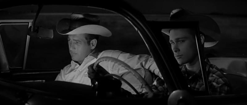 Paul Newman and Brandon de Wilde in Hud