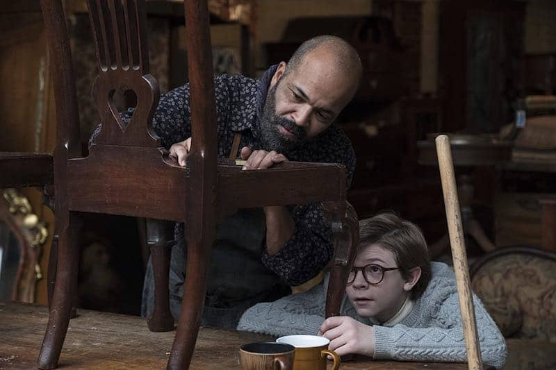 Jeffrey Wright and Oakes Fegley in The Goldfinch