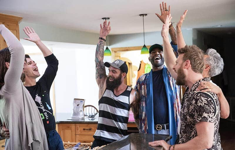 Karamo Brown, Ryan Dyer, Antoni Porowski, and Bobby Berk in Queer Eye