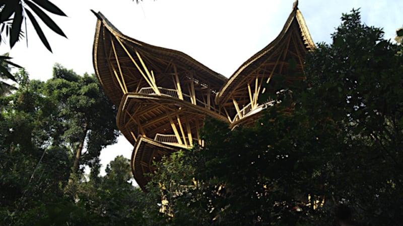 A bamboo home in Bali