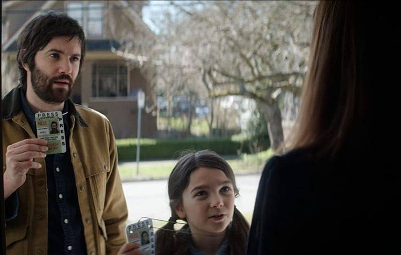 Jim Sturgess and Brooklynn Prince in Home Before Dark