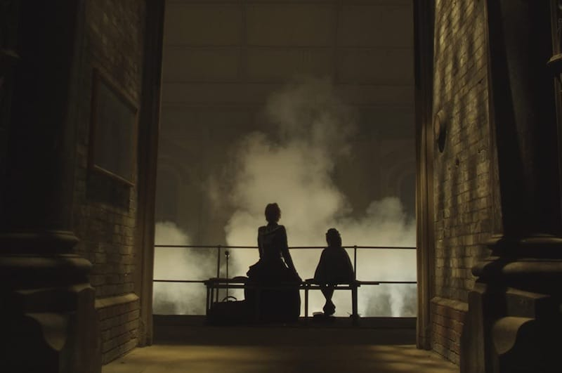 Romola Garai and Isla Watt in silouette in The Crimson Petal and the White