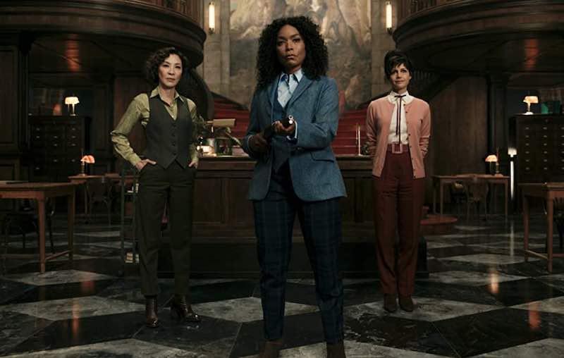 Angela Bassett, Michelle Yeoh, and Carla Gugino in Gunpowder Milkshake