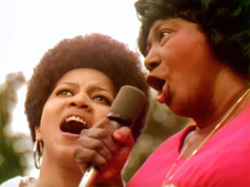 Mahalia Jackson and Mavis Staples in Summer of Soul
