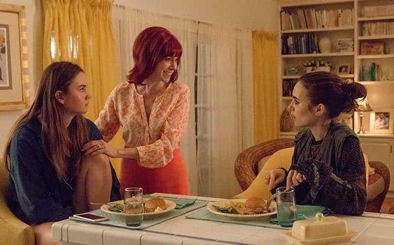 Carrie Preston, Liana Liberato, and Lily Collins in To the Bone