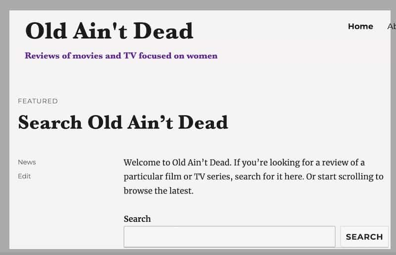 How to Find a Search Box on Old Ain't Dead