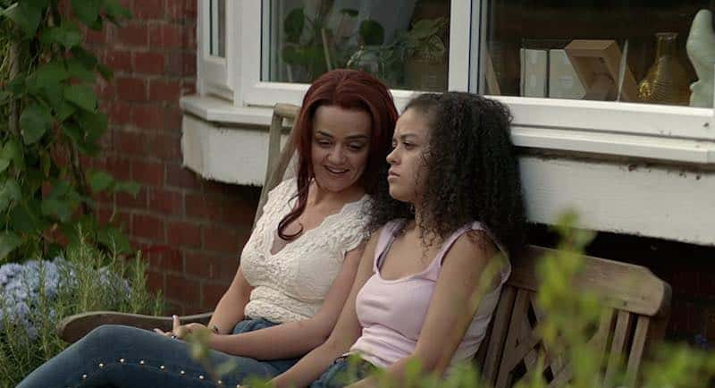 Hayley Squires and Alex Jarrett in Adult Material