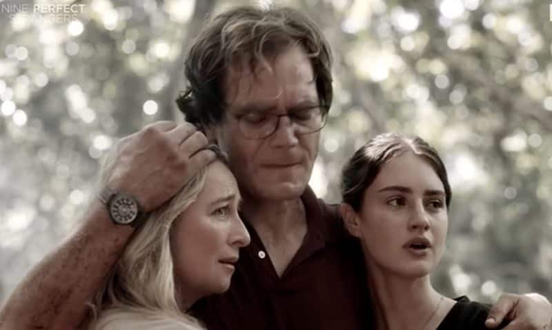 Asher Keddie, Michael Shannon, and Grace Van Patten in Nine Perfect Strangers