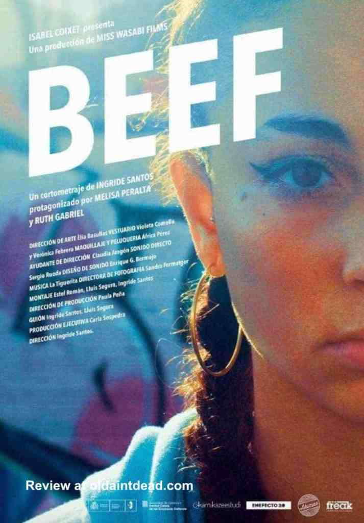 The poster for the short film Beef