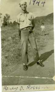 Henry Dunn Robison WW II in Puerto Rico, 1944