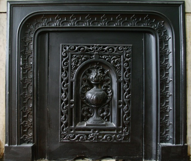 The Original Fireplace Surround And Summer Cover From One Of The Second Floor Rooms At  Chester Square