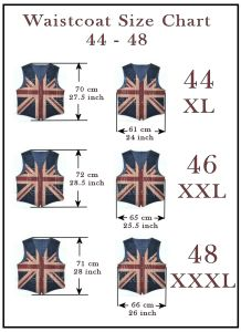 oldbritain waistcoat sizes 2