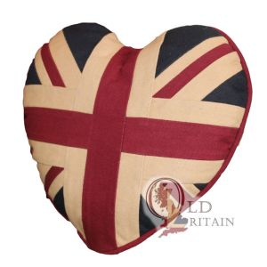 union jack Heart cushions