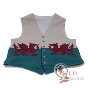vintage wales flag waistcoat