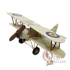 metal biplane model