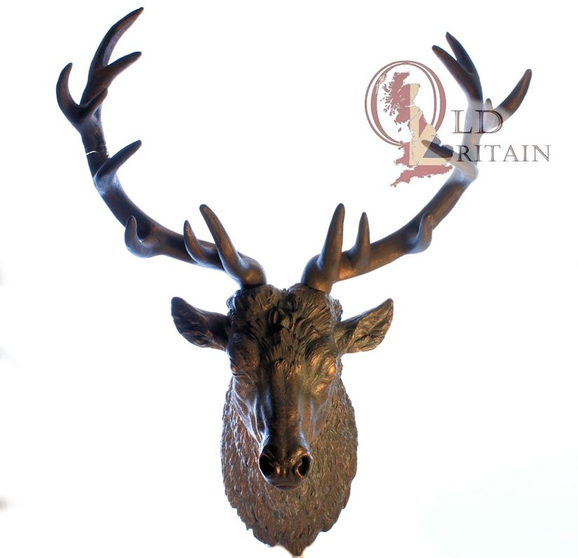bronze stag head