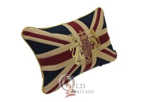 Union Jack Couch Cushion with Royal Crest