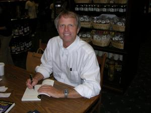 Jeff Dwyer signing books at Winchester Mystery House in San Jose, CA.