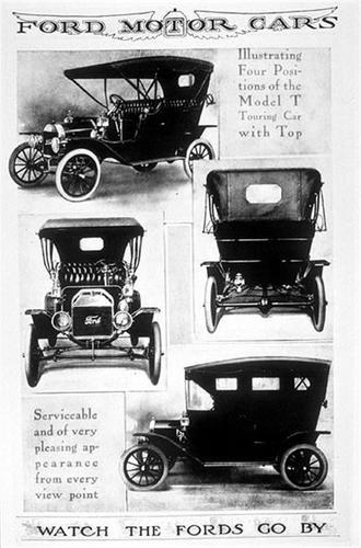 Model T Ford Ad in 1898