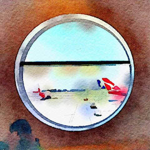 areoplanes through a round window
