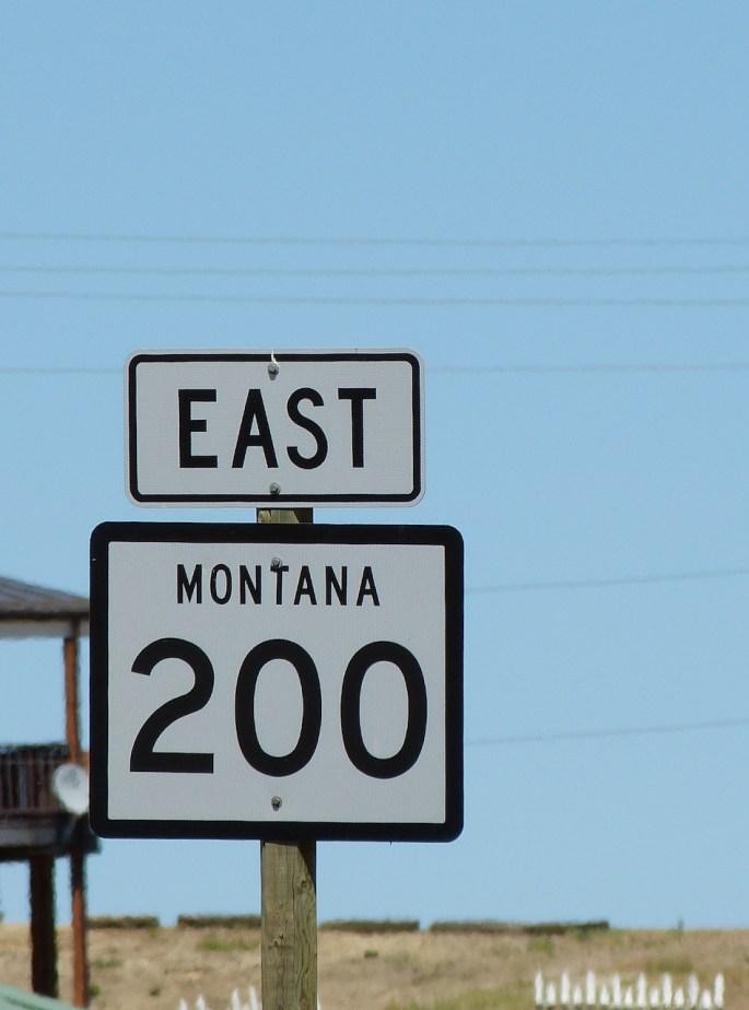 montana road sign