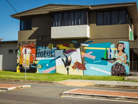 Artwork on the Unanderra Hotel.