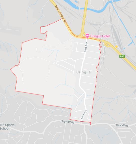 Google map view of Cringila