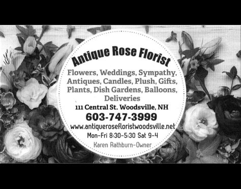 Ad image for Antique Rose Florist on 111 Central St. in Woodsville, NH
