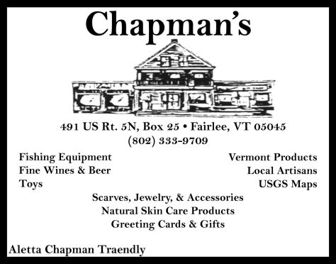 Ad image for Chapman's on 491 US Rt. 5N in Fairlee, VT 05045