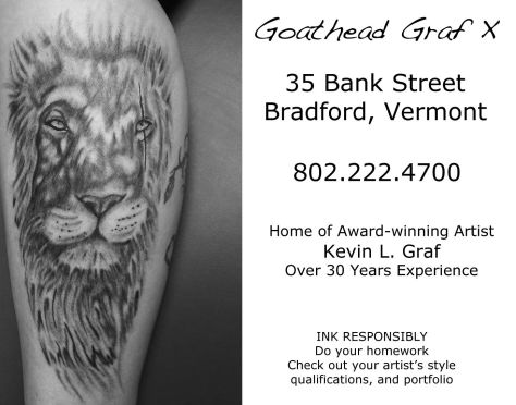 Ad image for Goathead Graf X on 35 Bank Street in Bradford, VT