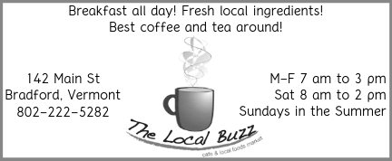 Ad image for The Local Buzz coffee shop on 142 Main Street in Bradford, VT
