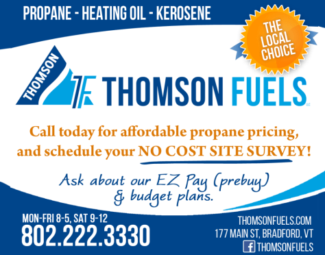 Ad image for Thomson Fuels on 177 Main Street in Bradford, VT