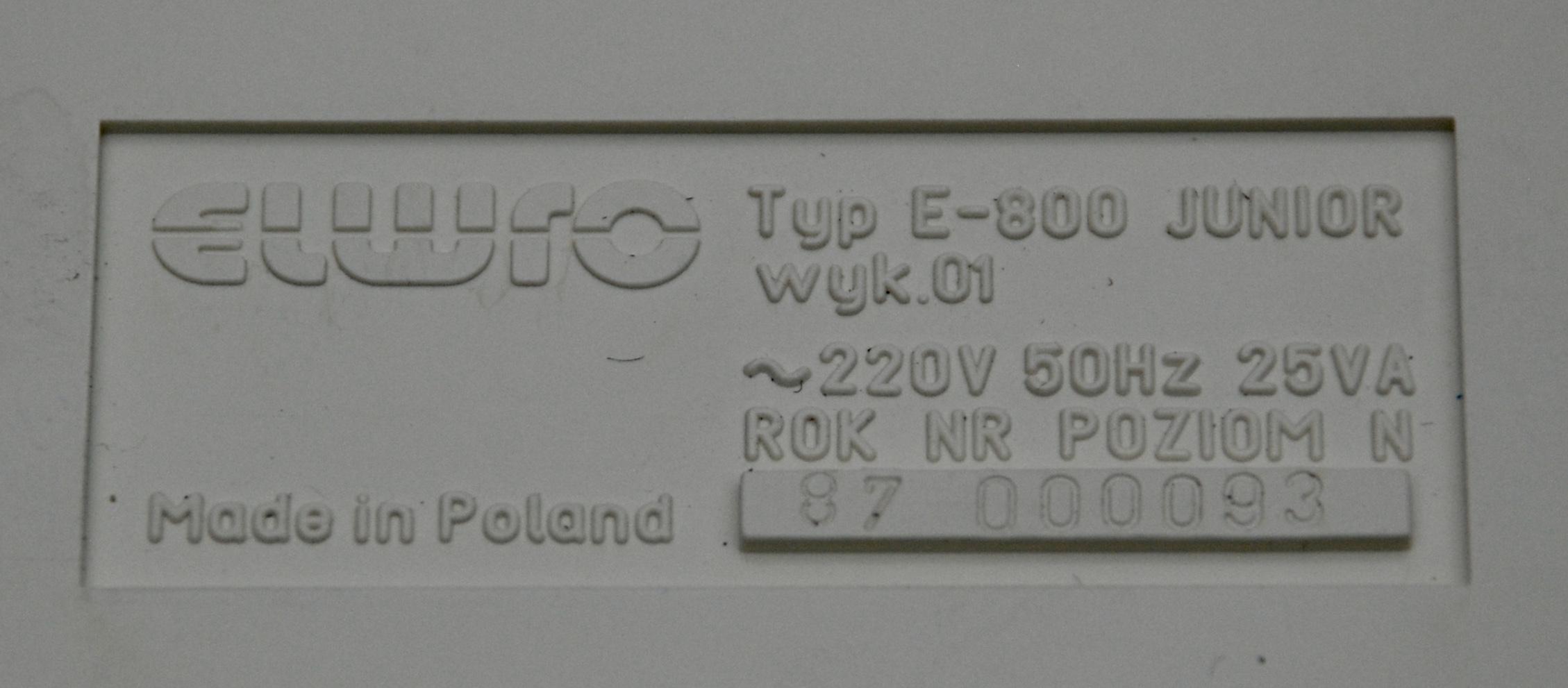 Elwro 800 Old Crap Vintage Computing