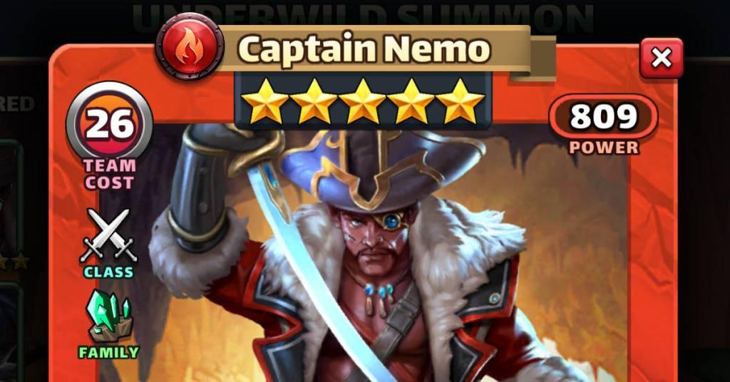 Captain Nemo Underwild Empires and Puzzles Feat