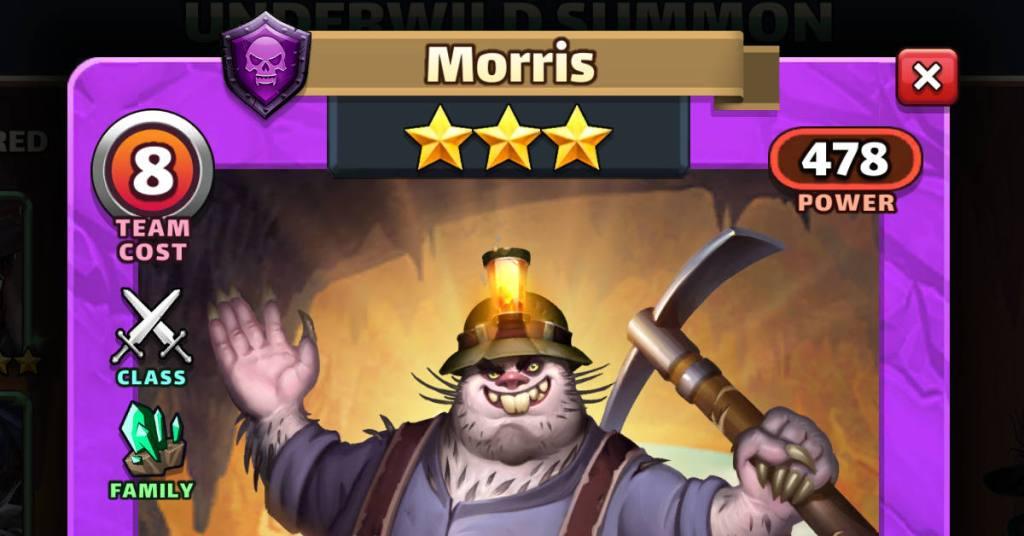 Morris Underwild Empires and Puzzles Feat