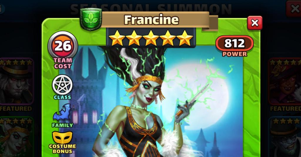 Costume Francine Empires and Puzzles FEAT