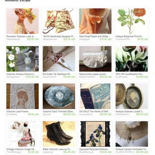 Romantic Escape – Etsy Treasury