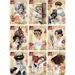 Harrison Fisher Girls Altered Postcard Set