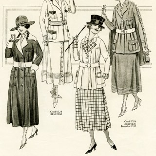 Vintage Women's Wartime Fashion 1 of 2