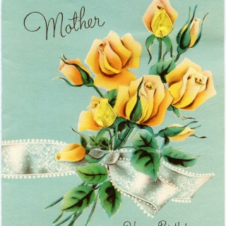 Vintage Mother's Birthday Greeting Card