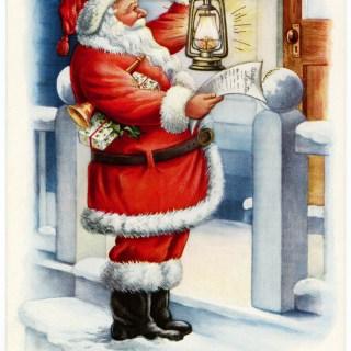 Vintage Whitney Santa Postcard